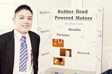Rubber band powered motors