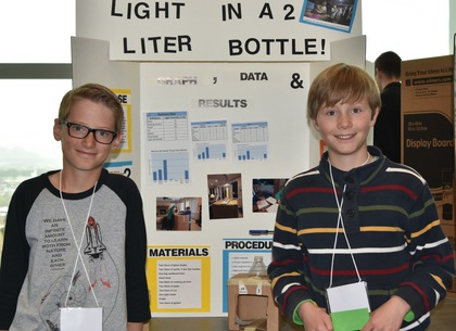 Light in a 2 liter bottle