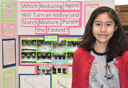 Which reducing agent will turn an iodine and starch