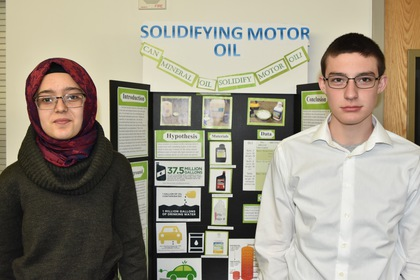 Solidifying motor oil