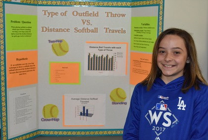 Type of outfield throw vs distance softball travels