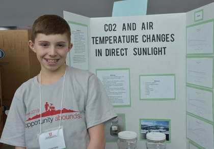 Co2 and air temperature changes in direct sunlight