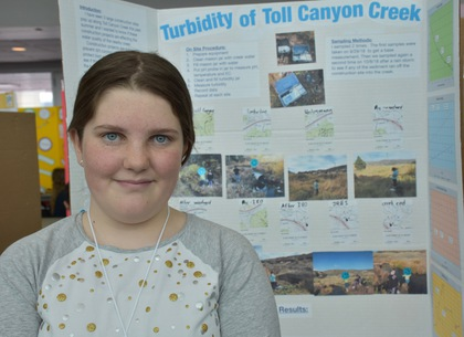 Turbidity of toll canyon creek