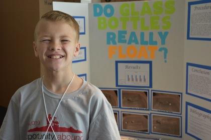 Do glass bottles really float
