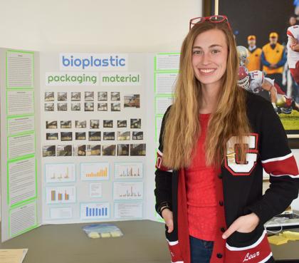 Bioplastic packaging material