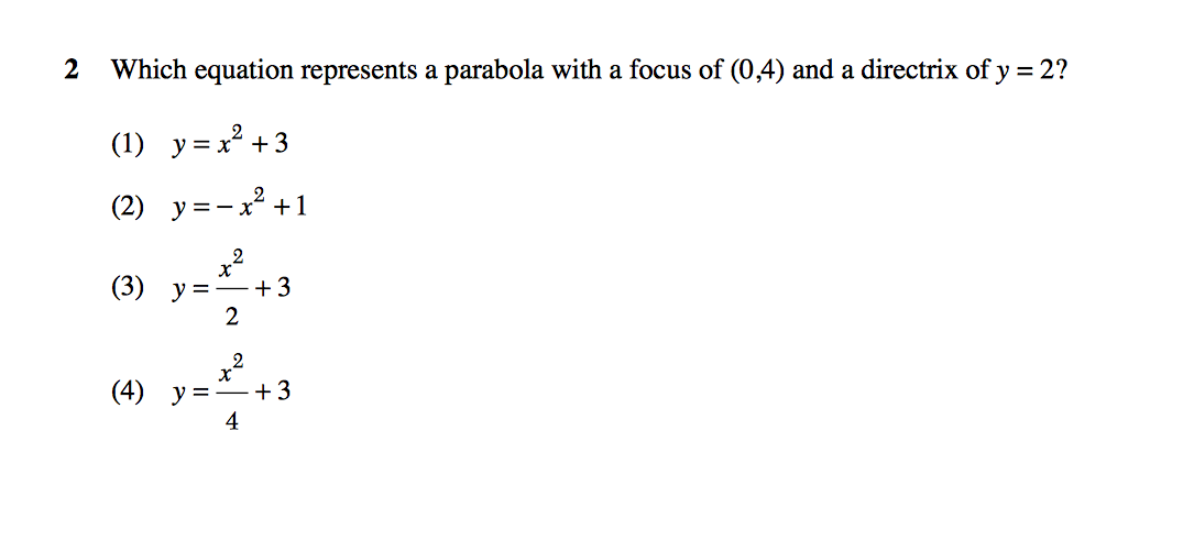 Answered: Find an equation of the parabola whose… | bartleby