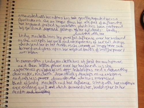 Character of lady macbeth essay
