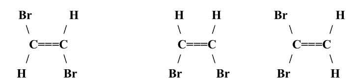There are 3 different possible structures (known as ... H2 Structural Formula