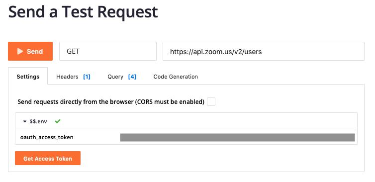 Testing Zoom APIs - API Reference - Zoom Developer