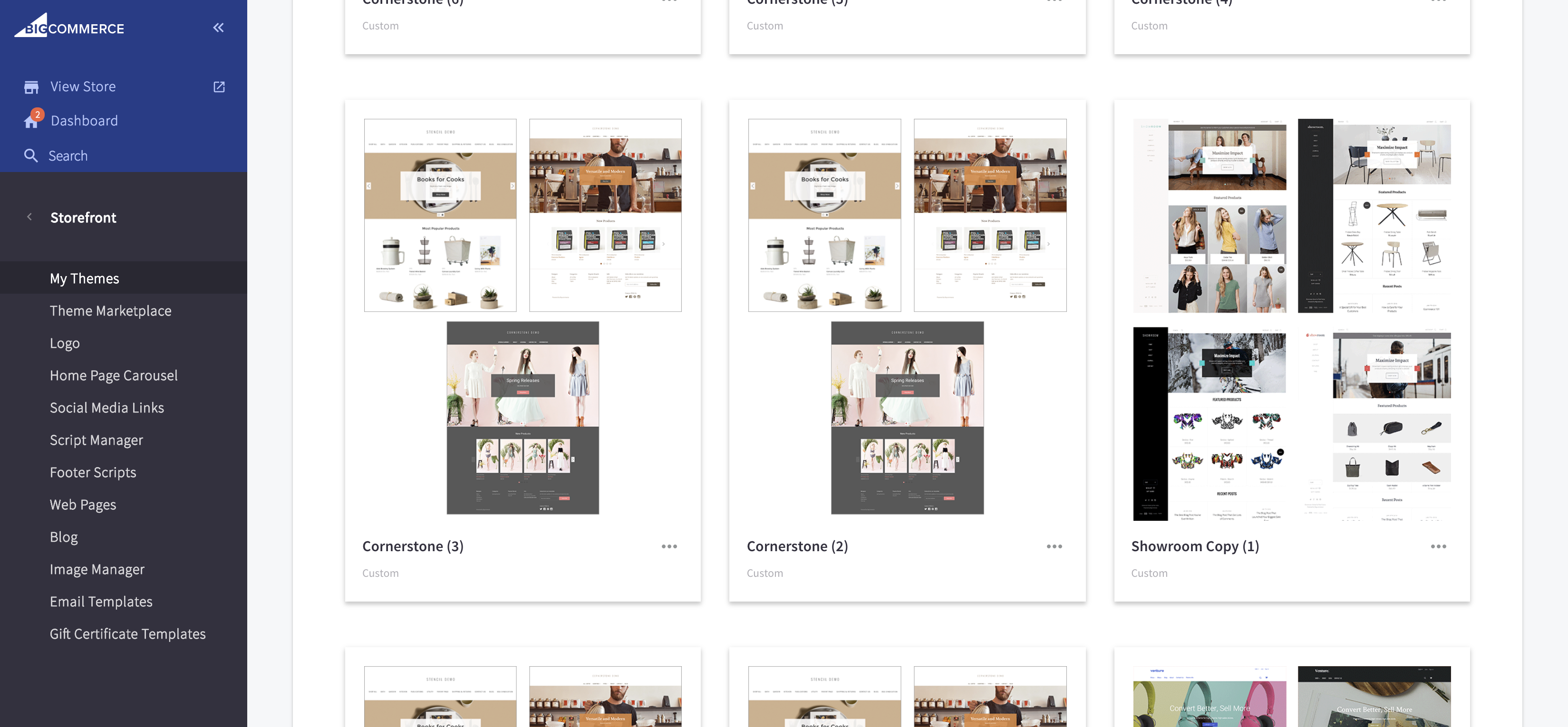 Storefront › My Themes