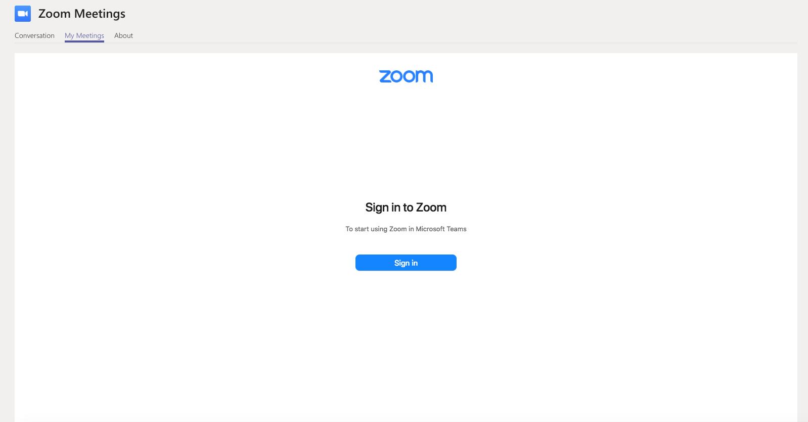 Login zoom