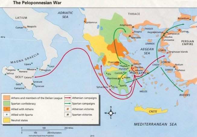 peloponnesian war - by Ifra Shamim [Infographic]