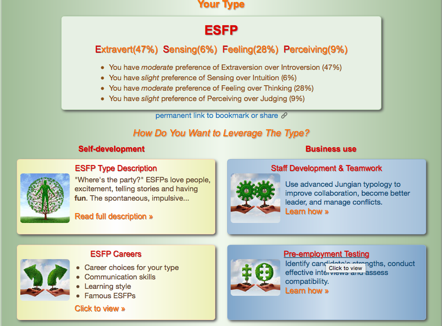 Personality test - by faith davis [Infographic]