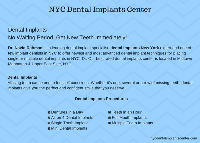 NYC Dental Implants Center - by Navid Rahmani [Infographic]