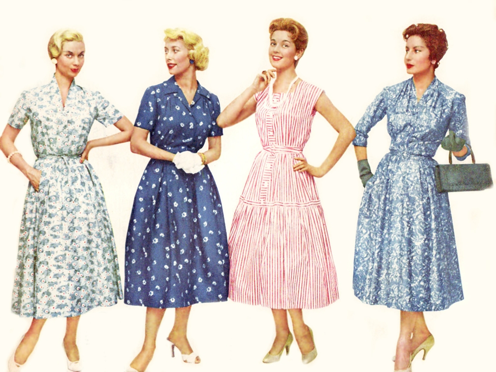 What was the fashion in 1950s 27