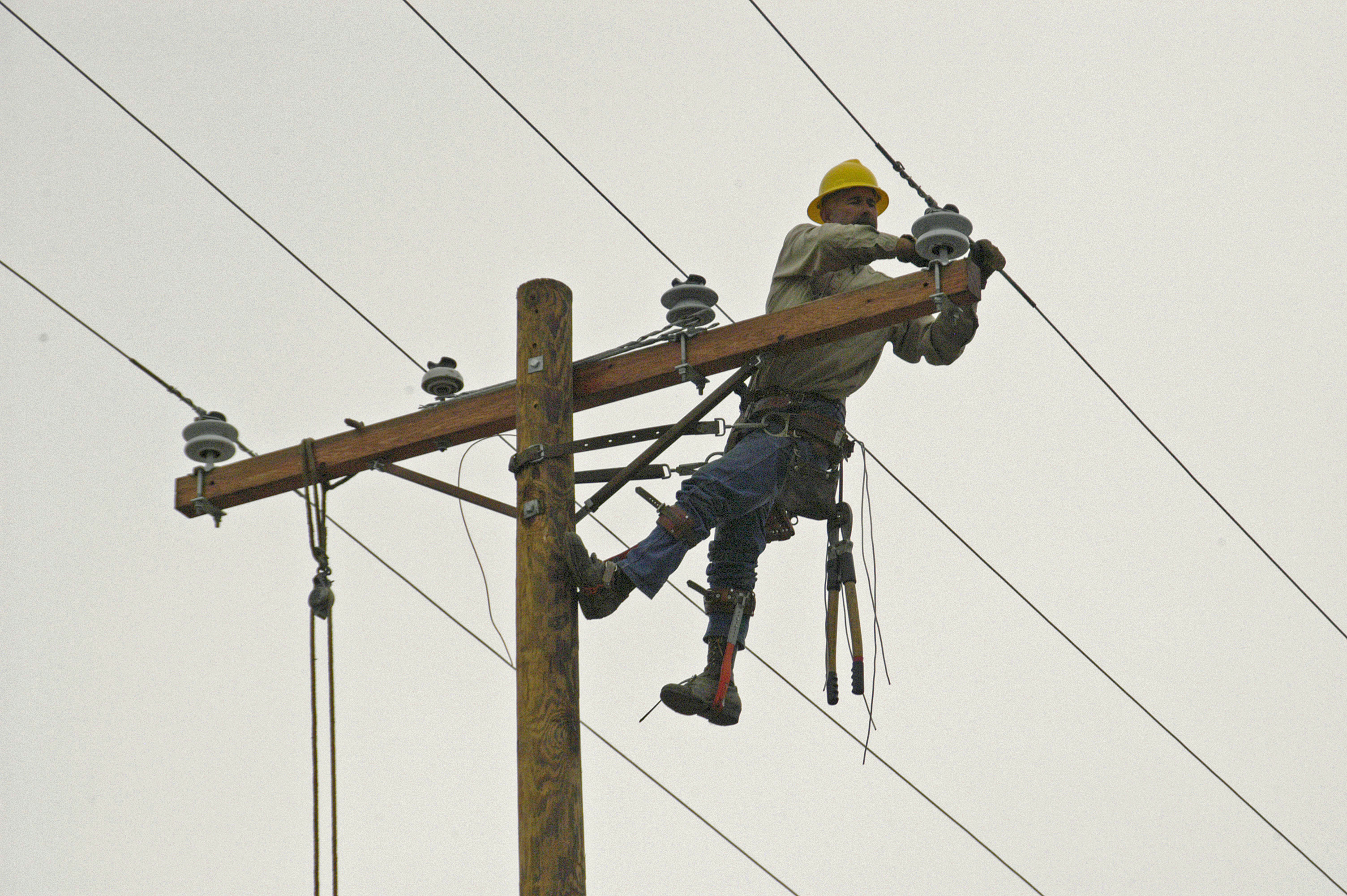 Electrical Line Worker Salary Wiring Gabe Titera Power Lineman By Infographic Rh Infograph Venngage Com Hazards A