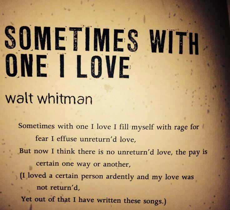 Walt Whitman Poems Walt Whitman Love Poems 11 Of His