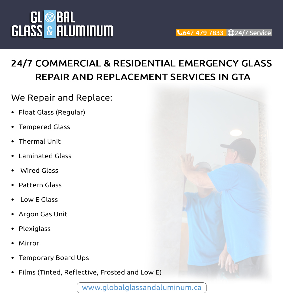 Emergency Glass Repair In Concord By Global Glass Aluminum