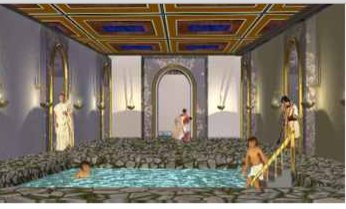 Roman Baths - by Duncan Mclean [Infographic] on sauna home, quote home, england home, steam room home, gym home,