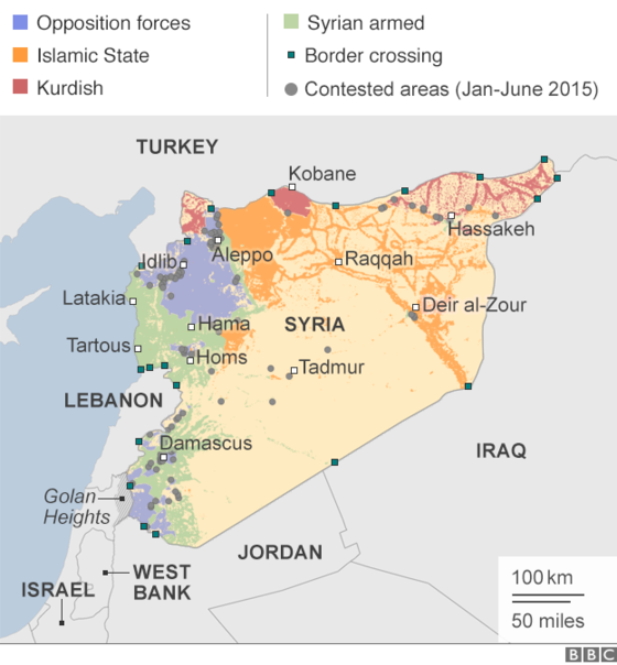 the 4 main groups fighting in the war include the syrian army also including the national defense force kurdish opposition forces fighting primarily for