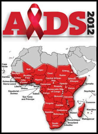 Aids Map Of Africa.New Report Title By Matt Bryant Infographic