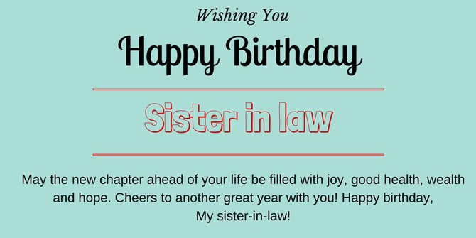 Happy Birthday Wishes For Sister In Law   By Zeeshan Haider [Infographic]