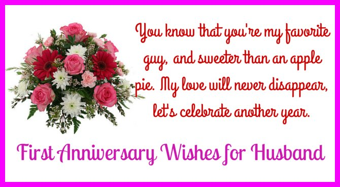 Happy First Wedding Anniversary Message to my Husband - See more at ...