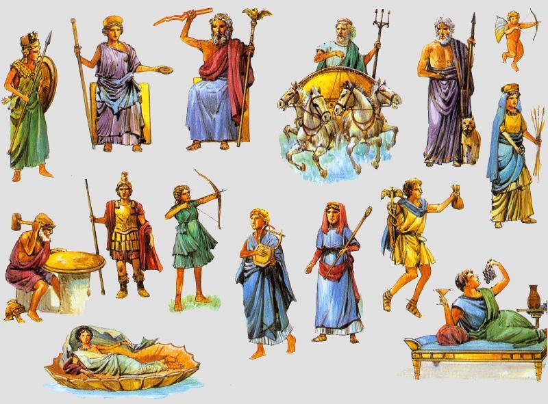 Roman gods - by Sofia Maite [Infographic]
