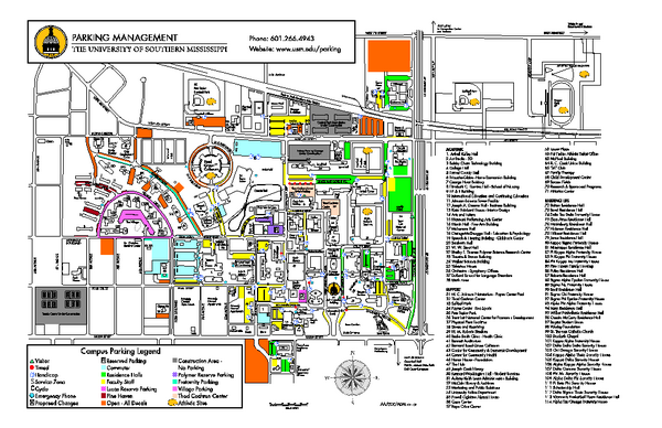The University of Southern Mississippi Parking Management - by ...