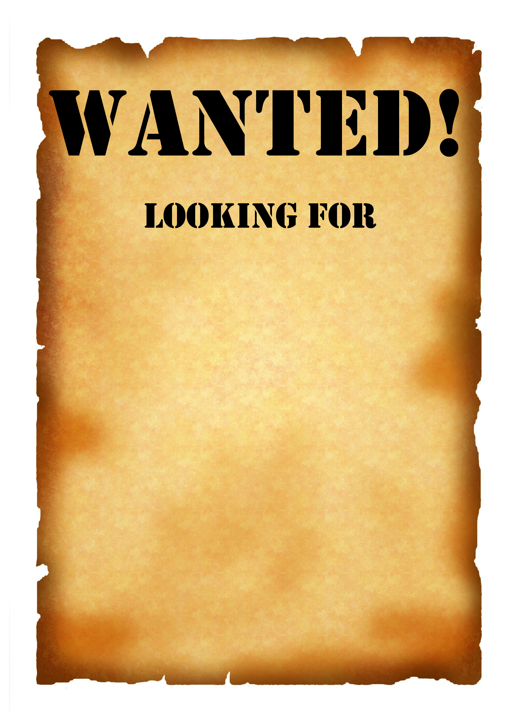 Wanted Poster by David Melgar Infographic