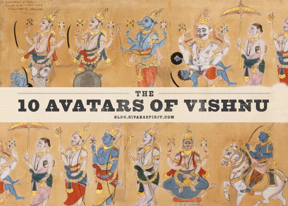 Resultado de imagem para OS 10 AVATARES DE VISHNU