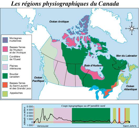Carte Canada Region.Region Du Canada Carte Mismis