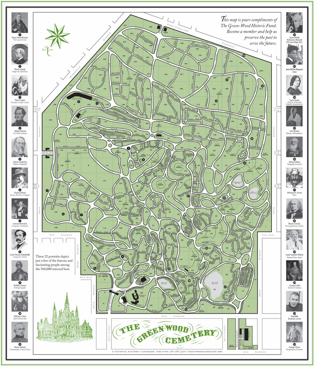 greenwood cemetery interactive map  by brittany bisceglia  - greenwood cemetery interactive map  by brittany bisceglia infographic