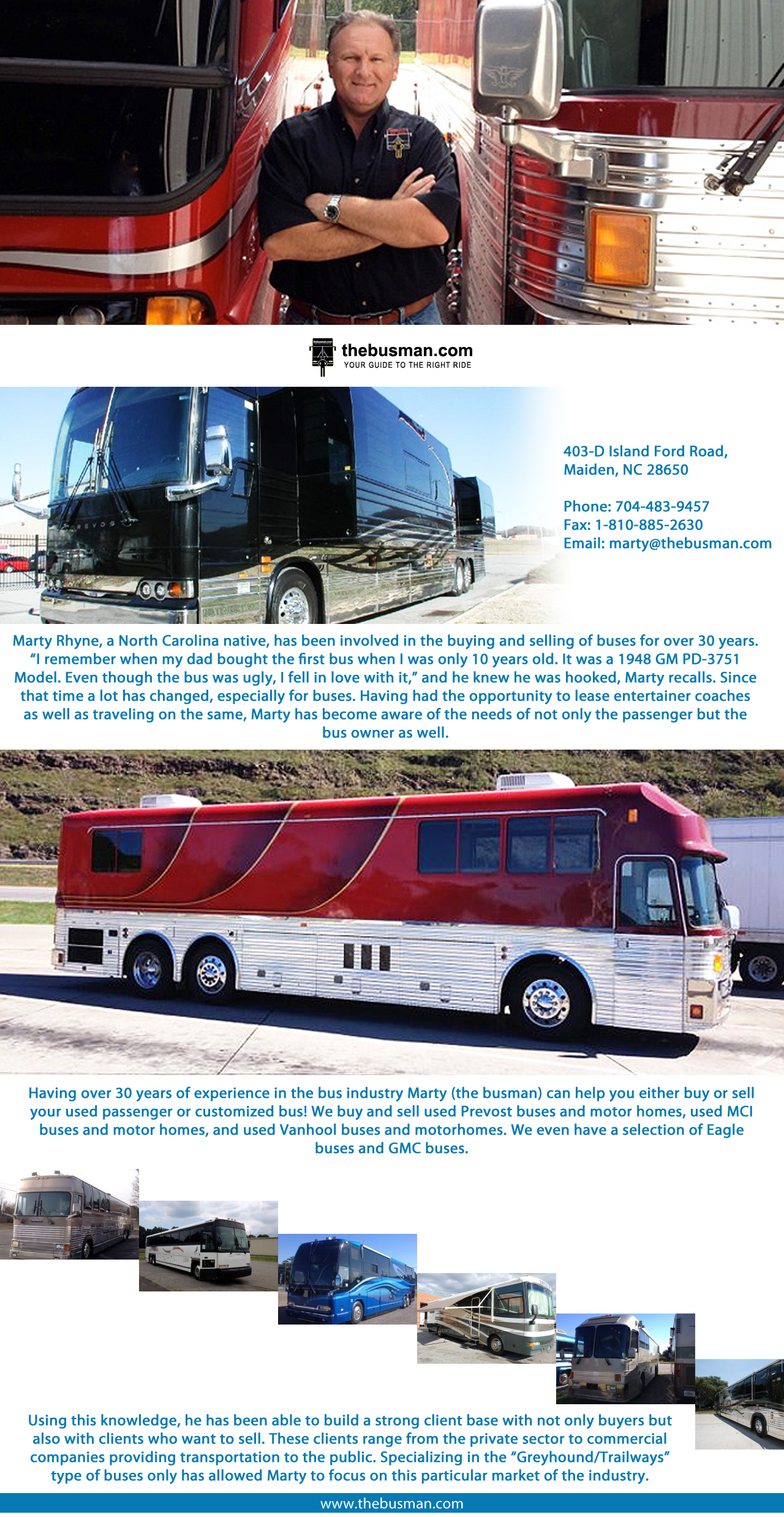 Entertainer Buses For Sale - by the busman [Infographic]