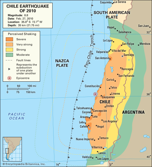 1960 Chile Earthquake Map.Chile Earthquake Of 2010 By Kelly Wu Infographic