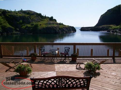 Oceanfront home in East End of St.John's Fully Furnished with Private Dock