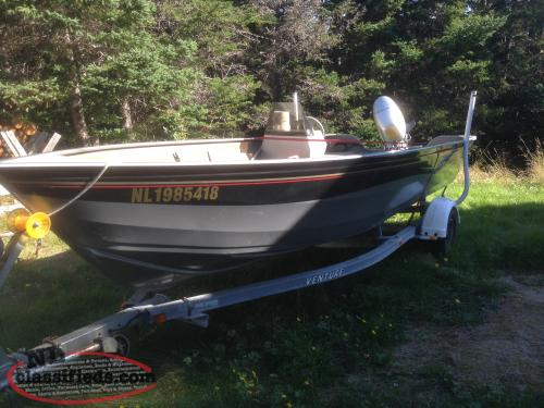 18 39 Aluminum Crestliner F50 Honda Package Buy Sell: aluminum boat and motor packages