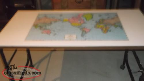TABLE TOP WITH MAP