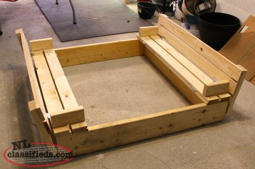 Wooden Sandbox with Folding Bench Seats Buy & Sell in