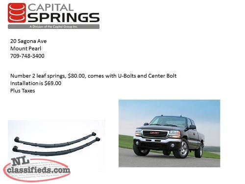 GMC Leaf Springs