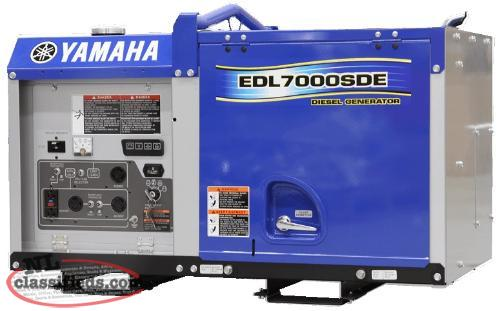 Save $900.00 on A New Yamaha EDL7000 Diesel Generator