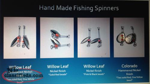 Fishing season is here!! Handmade fishing spinners!