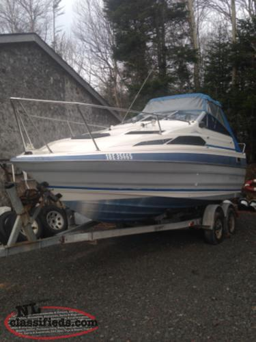 FOR SALE ONE 21.5 FT BAYLINER BOAT AND TRIALER