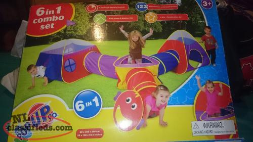 6 - in - 1 Combo Tunnel and Tent Set