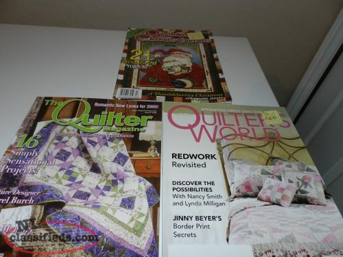 Knitting Quilt Magazine : New quilting magazines grand falls windsor newfoundland