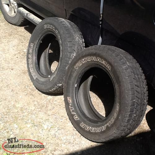 2 Tires 235 70R 16