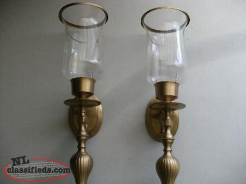 brass wall sconces