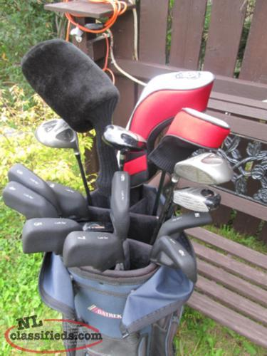 lowered price..$80.00 !!!FULL SET OF RH GOLF CLUBS WITH BAG