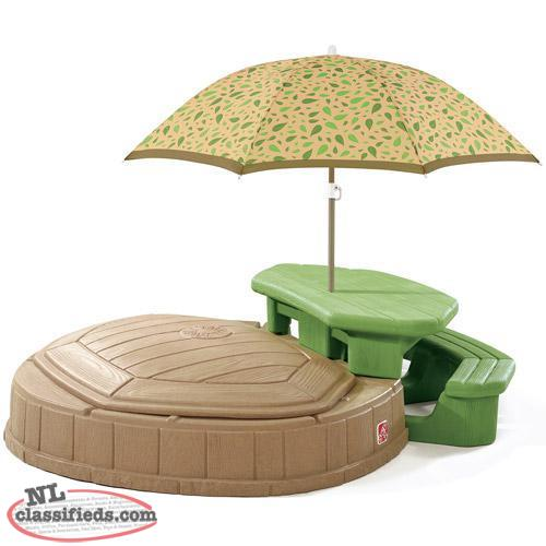 Step2 Swimming Pool Sand Box And Picnic Table With Umbrella Cbs Newfoundland