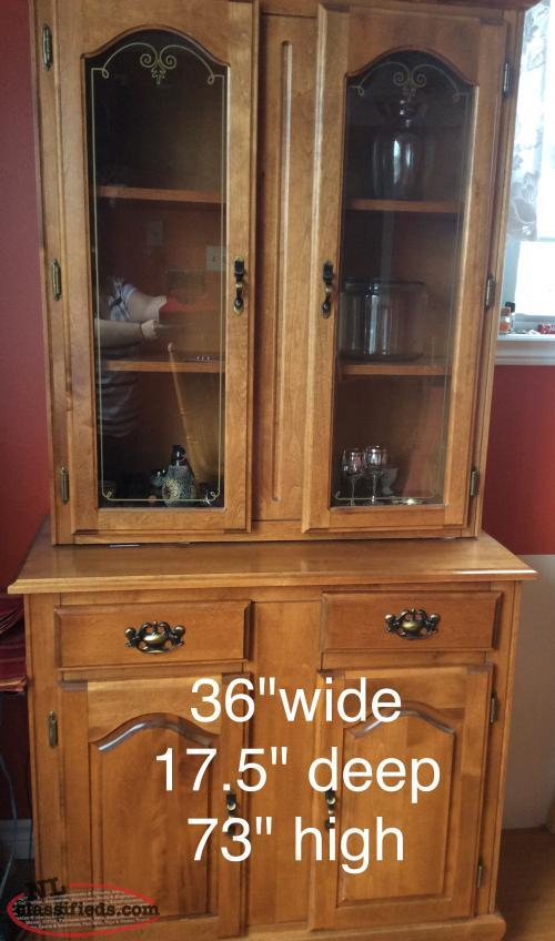 Buffet hutch for sale st lawrence newfoundland for Dining room hutch for sale